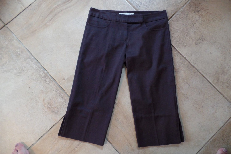 TRINA TURK Brown Cotton Blend Cropped Trouser Dress Pant 2