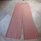 Zara Basic Orange & Blue Geometric Pants Hidden Back Zipper Wide Leg M