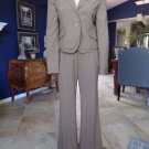 BCBG MAXAZRIA Camel Wool Blend Layered Blazer And Pant Suit S/6