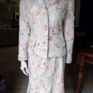 NIPON BOUTIQUE Floral Brocade  Blazer And Trumpet Skirt Suit 6/8