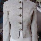 TRINA TURK Beige Linen Blend Peplum Blazer Jacket 6