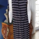 NWOT WHITE HOUSE BLACK MARKET Sleeveless Striped Stretch Sheath Dress 16