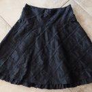 NANETTE LEPORE  Black 100% Silk Taffeta  A Line Skirt 4