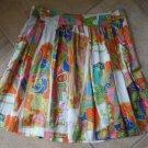 TRINA TURK Printed Cotton/Silk A Line  Skirt 8