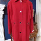 NWT Calvin Klein Red Button Front Wool Blend Peacoat Jacket Coat 1X