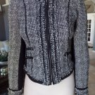 WHITE HOUSE BLACK MARKET Tweed Zip Front Jacket Blazer 0