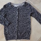 ANN TAYLOR Loft Animal Print 3/4 Sleeve Button Front Cardigan Sweater XS