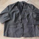 LANE BRYANT Gray Herringbone Classic Blazer Jacket 28
