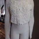 ANTHROPOLGIE Sleeping On Snow  Wool Blend Cropped Cardigan Sweater M