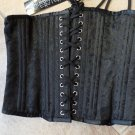 NWT Vintage Goth Black Lace Up Underbust Corset 28