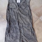 Anthropologie Hei Hei Black Checkered Sleeveless Romper XL