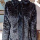 ALPINE STUDIO Black Animal Print Faux Fur Coat Jacket S