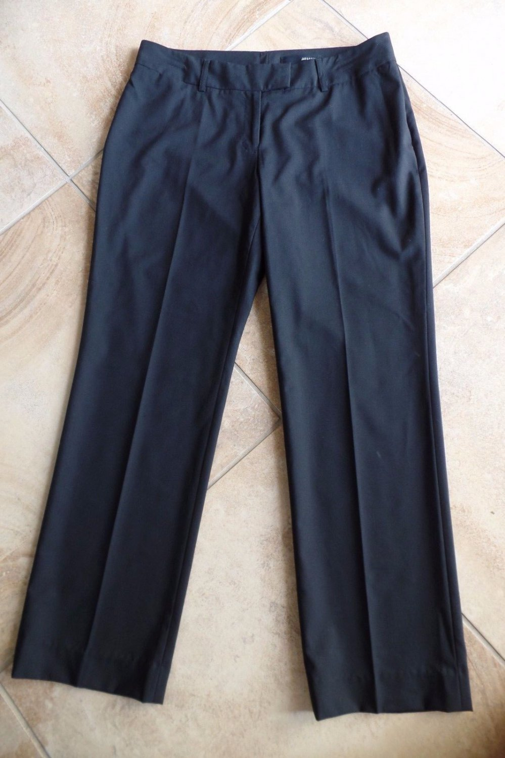 Jay Godfrey for Cintas Black Wool  Blend Hospitality Uniform Dress Pant 10