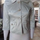 ANN TAYLOR LOFT Beige Satin 3/4 Sleeve Blazer Jacket 0
