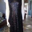 NWT ANNE KLEIN Black Sequins Sleeveless Cocktail Sheath Dress 12