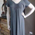 FRESH PRODUCE Gray Stretch Jersey Shift Dress M