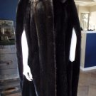 EVANS Long Dark Brown Faux Fur Cape Poncho S/M