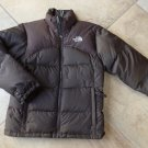 THE NORTH FACE Brown Goose Down Filled Puffer Ski Jacket M Girls