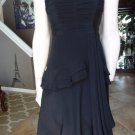 NANETTE LEPORE Black Silk Chiffon Strapless Dress 6