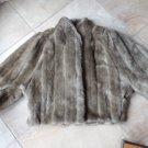 Brown 3/4  Kimono Sleeve Faux Fur Coat Jacket Cape M
