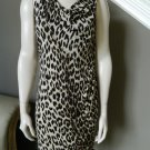 LADY BY YOANA BARASCHI Animal Print Stretch Jersey Dress S