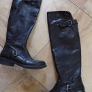 BELMONDO Black Leather Over The Knee Boots 38