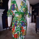 NWT T BAGS LOS ANGLES Floral Open Back Wrap Dress L