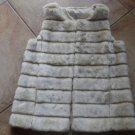 NWT NEW YORK & COMPANY Crean Faux Fur Vest  M