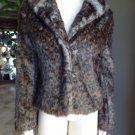 DEX Aminal Print Faux Fur Jacket Coat M