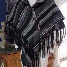 NWT RUANA Striped Sweater cape Poncho One Size