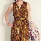 Anthropologie MOULINETTE SOEURS  Brassica Button Front Shirt Dress 2 Missin Belt