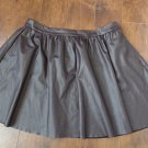 TOPSHOP Brown Faux Leather A Line Full Mini Skirt US 12