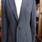 RALPH LAUREN Black Label Pinstripe 100% Wool Classic Jacket Blazer 10