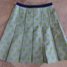 VERA WANG LAVENDER LABEL Green/Gray Polka Dot Pleated  A Line Skirt 4