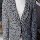 ANN TAYLOR LOFT Animal Print Long Sleeve Button Front Blazer Jacket 2