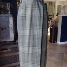 NWT Ralph Lauren Green Plaid Midi Length 100% Wool Fringe Hem Wrap Skirt 10