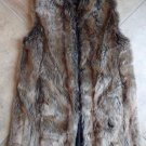 Donna Sayers Fabulous Furs Faux Fur Longer Lenght Brown  Vest S