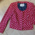 NWOT RACHEL ROY Red Star Print Cropped 100% Cotton Jacket Blazer 4