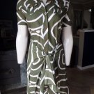 DIANE von FURSTENBERG HUAHINE TIKI CIRCLES OLIVE  DRESS 2