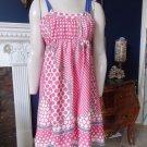 NWT TIBI Printed Sleeveless Silk Blend Empire Waist Sheath Dress 4