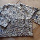 TOPSHOP Floral Print Brocade Boxy Snap Front Jacket Blazer 12