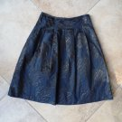 VINCE NAVY BLACK PRINT A Line SKIRT 4