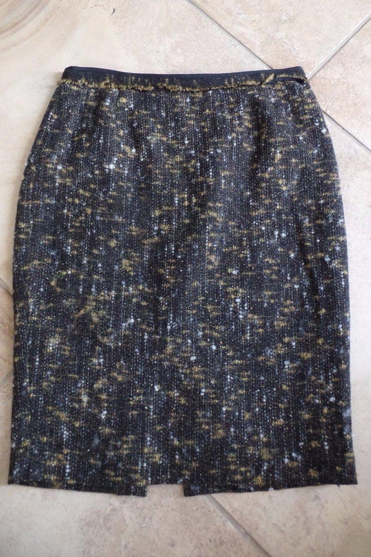 NWOT ELIE TAHARI Tweed Wool Blend Pencil Skirt 6