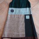 AILANTO Color Blocked 100% Silk Shift Dress 42