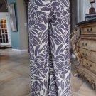 Leifsdottir Leaf Print Palazzo Wide Leg Sheer Chiffon Sides Pants Anthropogie 6