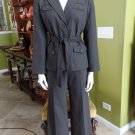 NWT Ann Taylor Brown Belted Jacket & Pant Suit 12P/8P
