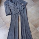 LIMITED Gray Classic 3/4 Sleeve Blazer And Dew Fit Pant Suit 0 XS