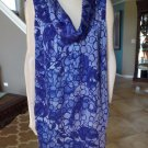 NWT LANE BRYANT  Purple Tone On Tone Printed Sleeveless Shift  Dress 18