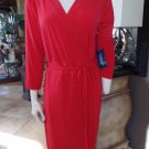 NWT ELOQUII Red Stretch Faux Wrap Sheath Dress 24W