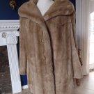 Vintage TOCCI Tan Swing Faux Fur Jacket Coat S/M